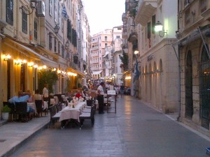 The streets of Corfu